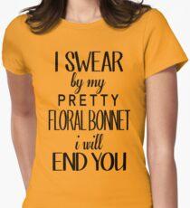 floral bonnet Women's Fitted T-Shirt