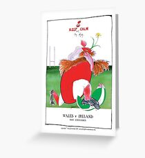 Rugby Balls wales v ireland, tony fernandes Greeting Card
