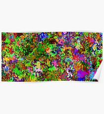 Abstract colors style flowers Poster