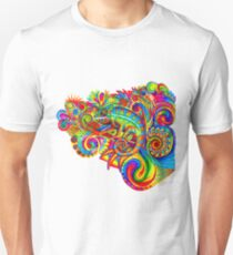 Psychedelizard Psychedelic Chameleon Colorful Rainbow Lizard Unisex T-Shirt