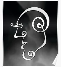 Surreal Face (wall art) Poster