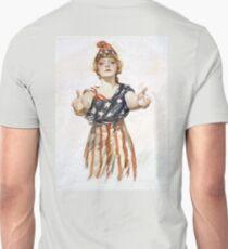 Americana, America, Columbia, American Recruitment, USA, World War 1 T-Shirt