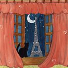 Paris Moonlight by Lee Owenby