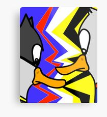 Batducky VS Superducky Metal Print