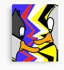 Batducky VS Superducky Canvas Print