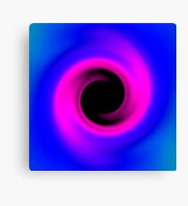 Abstract swirling black hole Canvas Print