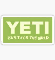 Grünes Yeti-Logo Sticker