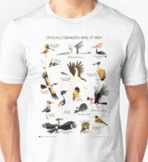 Critically Endangered Birds of India Unisex T-Shirt