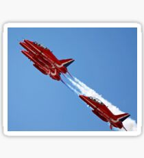 Red Arrows jets flying in formation Sticker