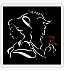 beauty and the beast broken rose Sticker