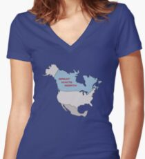Great White North Women's Fitted V-Neck T-Shirt