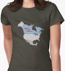 Great White North Womens Fitted T-Shirt