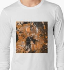 Rusting Darkness - Abstract in gold, black and white Long Sleeve T-Shirt