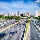 Av. 23 de maio - São Paulo, Brazil by Wieslaw Jan Syposz