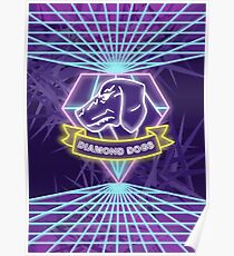 Metal Gear Solid Diamond Dogs 80s Synthwave Poster