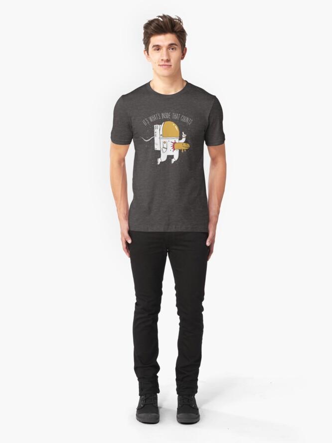 Alternate view of Space Sucks Slim Fit T-Shirt
