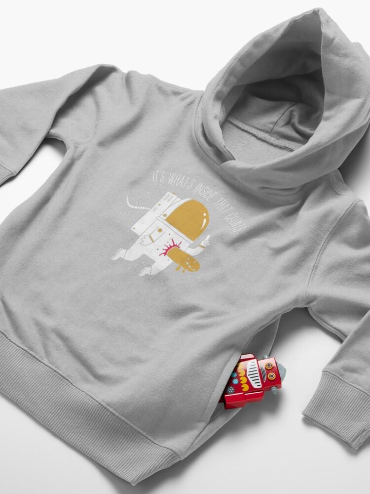 Alternate view of Space Sucks Toddler Pullover Hoodie