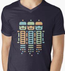 Acorn Rocket Bots Multi Men's V-Neck T-Shirt