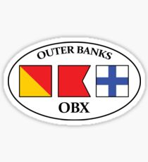 Outer Banks OBX North Carolina Nautical Flag Oval Sticker