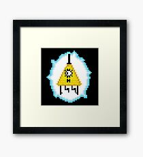 Bill Cipher (8-bit) Framed Print