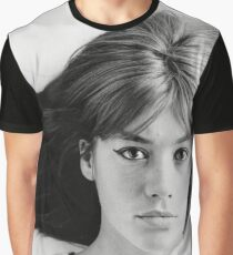 Françoise (Francoise) Hardy - History's Most Fashionable Face Graphic T-Shirt