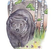 Birch Bear by Courtney Marie Art