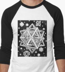 MC Escher Halftone Men's Baseball ¾ T-Shirt