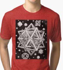 MC Escher Halftone Tri-blend T-Shirt