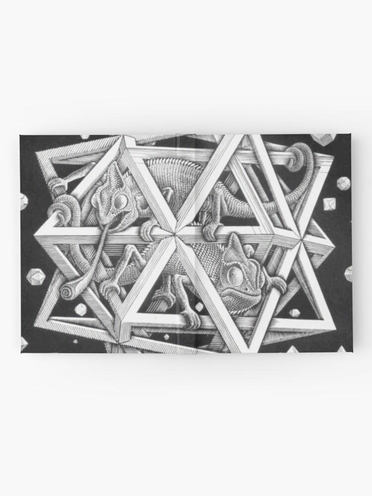 Alternative Ansicht von MC Escher Halbton Notizbuch