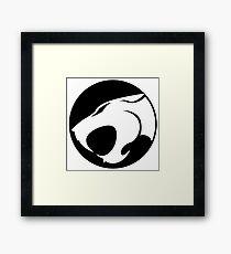 Thundercats WHITE & BLACK Framed Print