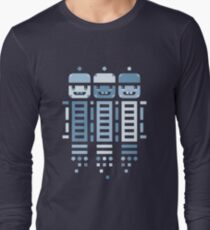 Acorn Rocket Bots Blue Long Sleeve T-Shirt