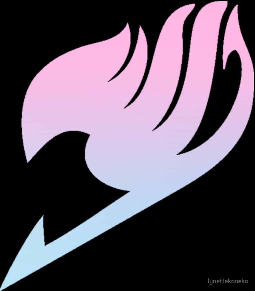 """Pink Blue Gradient Fairy Tail Logo"" by lynettekoneko ..."