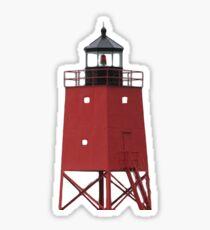 South Pier Lighthouse, Charlevoix Michigan Sticker