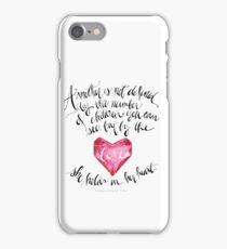 A Mother is Not Defined by the number of children you can see, but by the love she holds in her heart. - Franchesca Cox iPhone Case/Skin