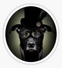 4.Dapper Eduardian Pit Bull in Steampunk Gear Sticker