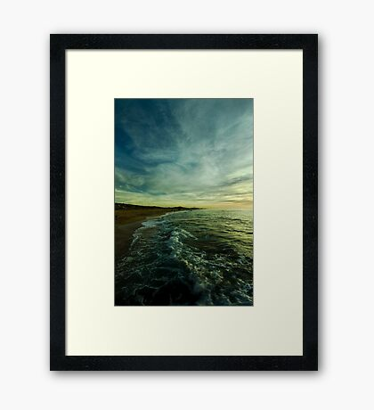 where water and sky meet Framed Print