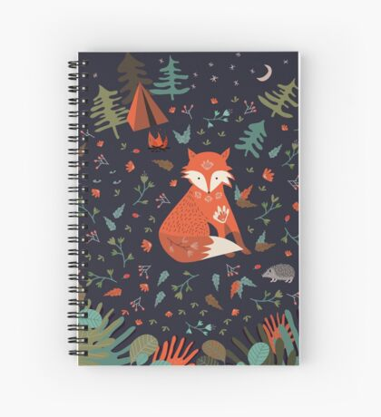 Camping With Fox Spiral Notebook