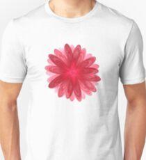 Red Flower Bloom Fractal  Unisex T-Shirt