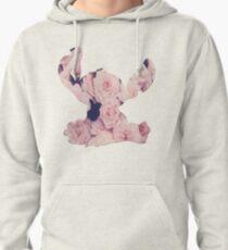 Flowers Stitch  Pullover Hoodie