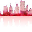 Red urban silhouette by Alexzel