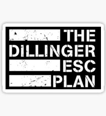 dillinger escape plan logo Sticker