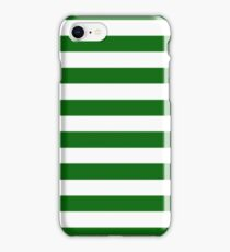 Green and White Hoops Banded Design iPhone Case/Skin