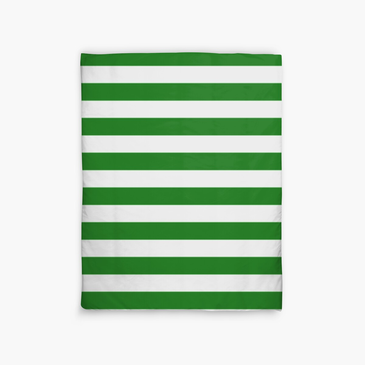 Quot Green And White Hoops Banded Design Quot Duvet Covers By
