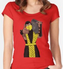 GET OVER HERE AND LISTEN TO THESE DOPE BEATS Women's Fitted Scoop T-Shirt