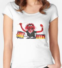 Animal Drummer Women's Fitted Scoop T-Shirt