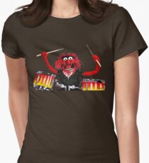 Animal Drummer Womens Fitted T-Shirt