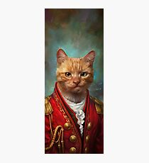Court General Wise Cat  Photographic Print