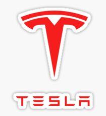 tesla logo tour 2017 Sticker