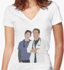 JD & Dr. Cox Women's Fitted V-Neck T-Shirt