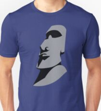 Easter island creepy large faced rock Unisex T-Shirt